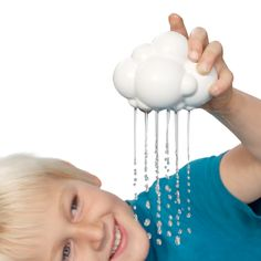 Bath Time Rain Cloud - what a fun, modern bath toy