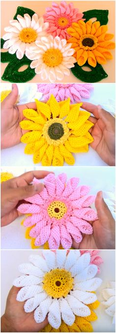 Crochet Flowers Easy Crochet Quick And Easy Beautiful Flowers - Crochet Quick And Easy Beautiful Flowers Crochet Puff Flower, Crochet Flower Patterns, Love Crochet, Crochet Motif, Beautiful Crochet, Irish Crochet, Crochet Doilies, Crochet Flowers, Crochet Stitches