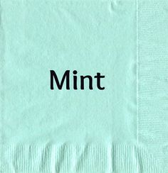 Personalized napkins. Mint just added to website. Trending for 2017
