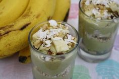 """What you'll need; 4 bananas (2 chopped, 2 mashed) Splash of vanilla extract (not """"essence"""") ½ cup of shredded coconut ½ cup of sultanas or raisins ½ cup of chopped raw nuts ½ teaspoon nutmeg   What to do:  Combine all the ingredients except [...]"""