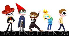 Bad End Friends. Who's the one with the eye patch?