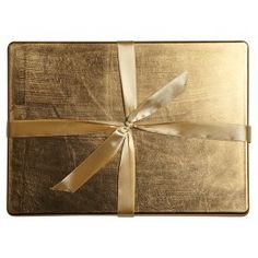 Waitrose Dining gold lacquer placemats, pack of 4