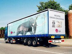 Truck Side Advertising - Mobile Billboards Outdoor Advertising - www.TruckMyAd.com