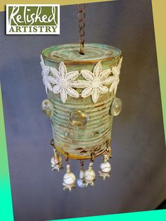 tin can turned art - don't necessarily love this particular design but I love the idea of a windchime