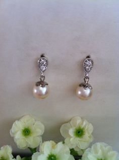 SALES  8 mm AAA Ivory White Round Genuine Cultured by SwamiJewelry, $30.00