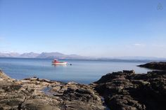 View of Knoydart from the beach (2 mins from the cottage)
