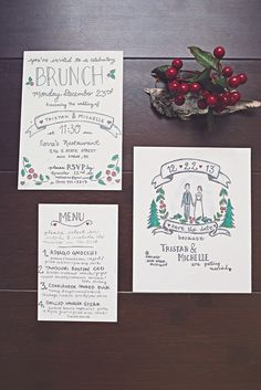 I might get crafty and do the wedding invites myself? Ann Arbor Winter Wine Bar Wedding: Michelle and Tristan