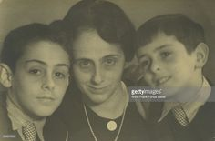 Otto Frank's sister Helene or 'Leni' (1893 - 1986) with her sons Bernhard ('Buddy') and Stephan Elias (left), circa 1932. The boys are the first cousins of Anne and Margot Frank.