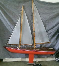 Vintage #wooden remote control #model #sailing boat,  View more on the LINK: 	http://www.zeppy.io/product/gb/2/252422502084/