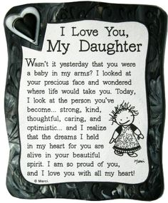 I Love My Daughter Quote Magnet quotes family daughter shop family quotes daughter quotes mom quotes buyable Mom Quotes From Daughter, I Love My Daughter, My Beautiful Daughter, My Love, Daughter Graduation Quotes, Happy Birthday Daughter Quotes, Mother Daughter Poems, Letter To My Daughter, Beautiful Person