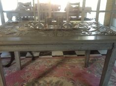 Old pressed ceiling table