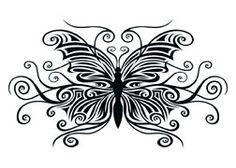 Black Fantasy Tribal Butterfly Tattoo  #temporarytattoos #temporarytattoo #t4aw #tattooforaweek #fantasy #fantasytattoo #tribal #tribaltattoo #butterfly #butterflytattoo