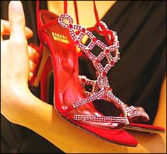 Most expensive shoes. Designed for the 2003 Oscars but never worn or used. Stuart Weitzman designed these Ruby shoes with 642 Burma carats and a pound of platinum.