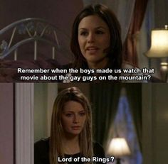Lord of the Rings mixed with the OC?! There couldn't be a more perfect pin. Just for the record, Sam and Frodo are heterosexual. Summer doesn't know what she's talking about.