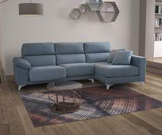 Canapé tissu bleu avec coffre Tousalon Savina