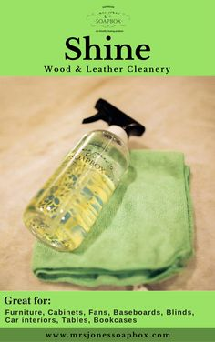 Shine :: Wood & Leather Cleaner  #cleaner #leathercleaner #cleaning #ecofriendly https://www.mrsjonessoapbox.com/
