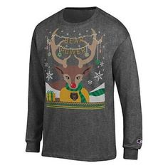 Baylor University Bears long sleeve Christmas T-shirt // Comfier than an itchy ugly Christmas sweater!