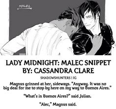 The Dark Artifices Malec snippet