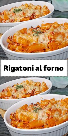 Rigatoni al forno - Recipesviva Rigatoni, Lunch Recipes, Pasta Recipes, Breakfast Recipes, Breakfast Lunch Dinner, Healthy Protein, Recipes From Heaven, Food Menu, Pasta Dishes
