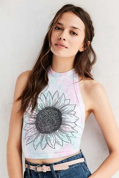 Future State Daisy Halter Top - Urban Outfitters