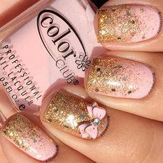 pink,glitter.bow