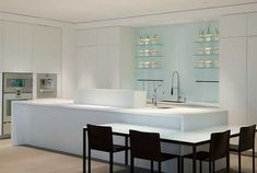 white kitchen cabinets and island design