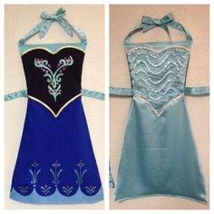Frozen Anna and Elsa Reversible DressUp Apron by ReversibleRoyalty, $45.00