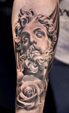 Tattoo Artist - Daniel Rocha - statuary tattoo | www.worldtattoogallery.com