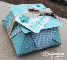 Kreativersum, Stampin' Up!, SU, Origami, Box, Verpackung, Pralinen, Danke für Helga