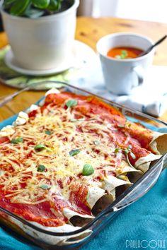 enchilladas z indykiem Enchiladas, Vegetable Pizza, Vegetables, Kitchen, Recipes, Food, Wedding, Valentines Day Weddings, Cooking