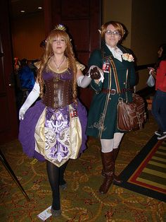 Steampunk Zelda and Link