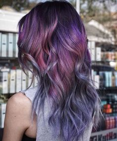 Rooted multi toned purple hair   By @jeffreyrobert_