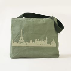 """Paris"" Utility Tote is perfect for the traveler! May be personalized! The Adventure Collection developed in collaboration with Ubuntu Made, empowering Kenyan women to build stronger communities through sustainable businesses."