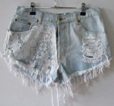 lace highwaisted shorts