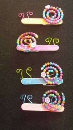 Popsicle stick snails