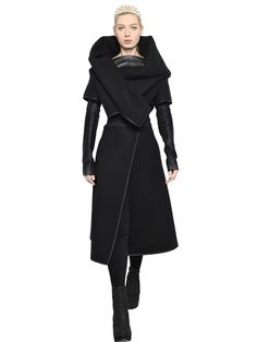 GARETH PUGH - DOUBLE WOOL COAT - LUISAVIAROMA - LUXURY SHOPPING WORLDWIDE SHIPPING - FLORENCE