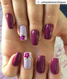 Nail art Christmas - the festive spirit on the nails. Over 70 creative ideas and tutorials - My Nails Cute Summer Nail Designs, Cute Summer Nails, Nail Designs Spring, Nail Art Designs, Flower Nail Designs, Nails Design, Floral Designs, Spring Nail Art, Spring Nails