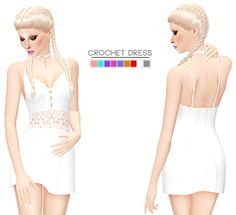"its-leeloo: "" ♚ CROCHET DRESS ♚ • 9 swatches • TOU/FAQ can be found on my page • list of CC I use in previews [ download ] """
