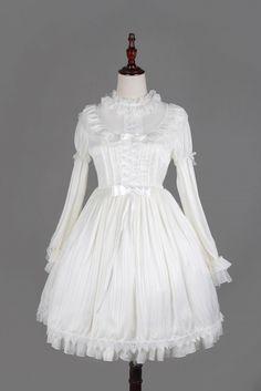 Neverland Lolita ~Fantasy Dream~ Chiffon Long Sleeves Lolita OP Dress - My Lolita Dress