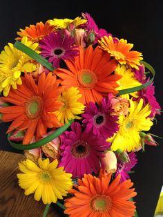 Gerbera Daisy Bridal Cascade Bouquet