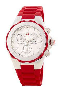Michele Tahitian Jelly Bean Red Watch-fun watch for Christmas time!!