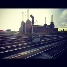 #Battersea Power Station #London - view from train due south via @sparrow_tweets