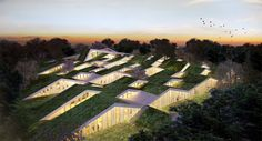 Proposed design by BIG architects for a primary school in Denmark. The Shire meets angles. Magic!