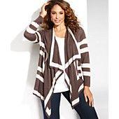 INC+International+Concepts+Plus+Size+Long-Sleeve+Draped+Striped+Cardigan