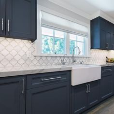 Nuvo Oxford Blue Cabinet Paint Explore your options for painting kitchen cabinets, plus browse inspiring pictures Kitchen On A Budget, Home Decor Kitchen, Rustic Kitchen, Interior Design Kitchen, Home Kitchens, Diy Kitchen, Small Kitchens, Distressed Kitchen, Kitchen Themes
