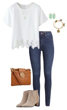 """Contest Entry! Read the d!"" by penguinfan911 ❤ liked on Polyvore featuring H&M, Kendra Scott, Alex and Ani, Golden Goose, Michael Kors, women's clothing, women's fashion, women, female and woman"