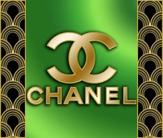 Chanel - Chuck Staley: Golden Chanel logo. Not for sale.