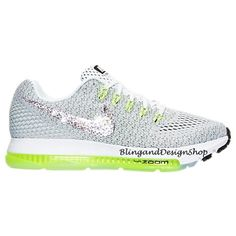 82f969f1c804 Items similar to Bling Nike Zoom All Out Low White Shoe Customized with Swarovski  Crystals