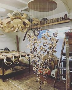 Our amazing team have been putting the finishing touches to this Giant Flock Chandelier. It takes a lot of man hours to create but the end result is certainly worth it. #tomraffield #steambent #steambentwood #steambentlighting #chandelier #madeinbritain #worthit