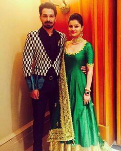 Rubina dilaik and Abhinav shukla Kurti Patterns, Indian Designer Outfits, Indian Suits, Celebs, Celebrities, Celebrity Couples, Bollywood Fashion, Photography Poses, Actresses